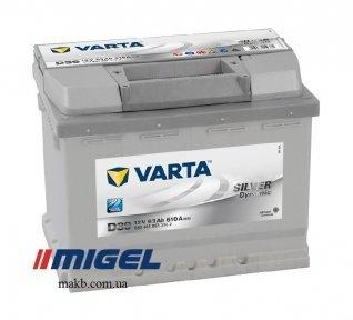 Аккумулятор Varta 63Ah R+ 610A Silver Dynamic