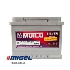 Аккумулятор Mutlu Silver Calcium 60Ah R+ 520A