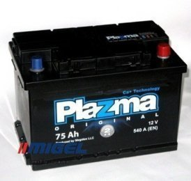 Аккумулятор Plazma Original 75AH R+ 540A